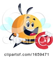 Bee Holding Email Symbol