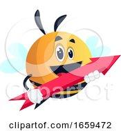 Bee Holding An Arrow
