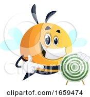 Bee Showing Target