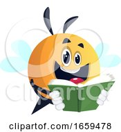 Bee Reading A Book