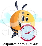 Bee Holding Clock