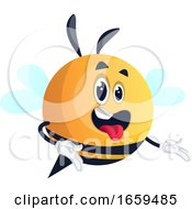 Bee With Open Mouth
