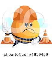 Bee With Helmet On Street