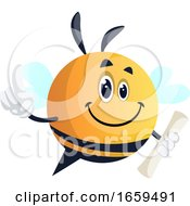 Bee Holding Roll