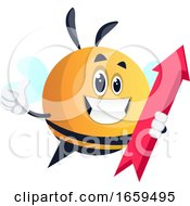 Bee Holding Red Arrow
