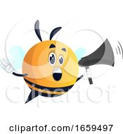 Bee With Megaphone
