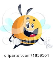 Bee With Happy Face