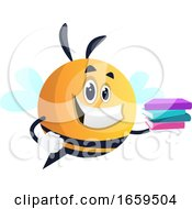 Smiling Bee Holding A Book