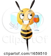 Bee Holding A Drink Bee Drinking Wine