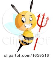 Bee With A Trident