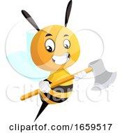 Bee Holding An Axe