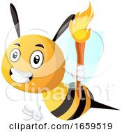 Bee Holding A Torch