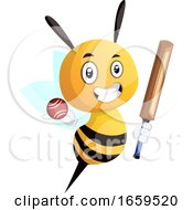 Bee Playing Cricket