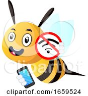 Bee Holding A Phone No Wifi by Morphart Creations