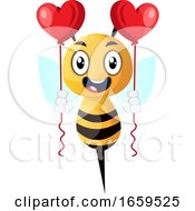 Bee Holding Balloons