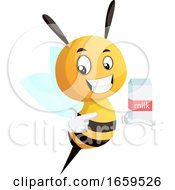 Bee Pointing On The Milk
