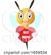 Bee Holding Heart by Morphart Creations