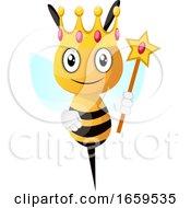 Bee Wearing Crown