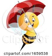 Bee Holding Umbrella