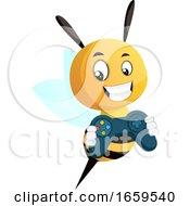 Bee Holding Joystick
