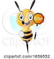 Bee Caring Stop Sign
