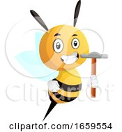 Bee Holding A Hammer