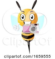 Bee Holding A Camera
