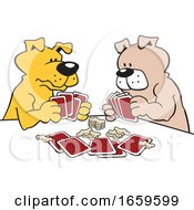 Cartoon Dogs Playing Poker by Johnny Sajem