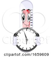 Thermometer With Clock by Morphart Creations