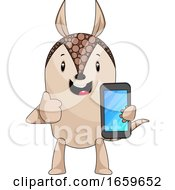 Armadillo With Mobile Phone
