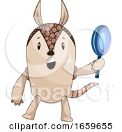 Armadillo Holding Magnifying Tool