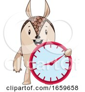 Armadillo With Clock by Morphart Creations