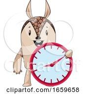 Armadillo With Clock