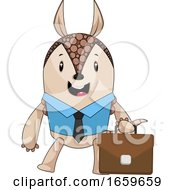 Armadillo With Suit Case