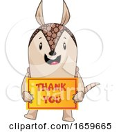Armadillo With Thank You Sign