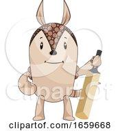 Armadillo With Cricket Bat