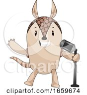 Armadillo With Microphone by Morphart Creations