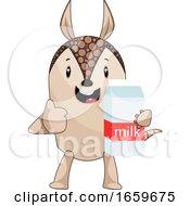 Armadillo Holding Milk by Morphart Creations