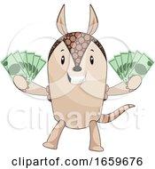 Armadillo Holding Money