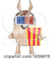 Poster, Art Print Of Armadillo With Popcorn