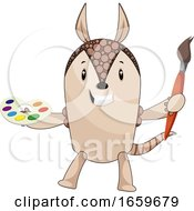 Armadillo With Paint Brush