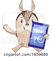 Armadillo With Thank You Board