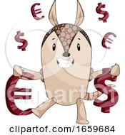 Armadillo With Money Sign