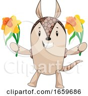 Armadillo With Flowers