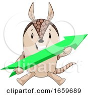 Armadillo With Arrow Sign