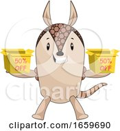 Armadillo Holding Sale Boxes