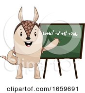 Armadillo With Blackboard