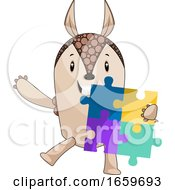 Poster, Art Print Of Armadillo With Puzzle