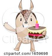 Armadillo Holding Cake