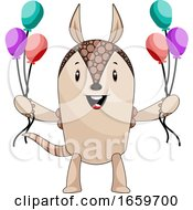 Armadillo With Balloons by Morphart Creations